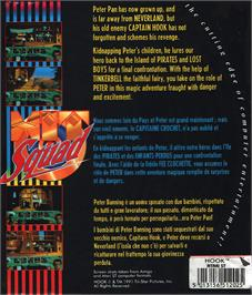 Box back cover for Hook on the Atari ST.