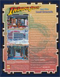 Box back cover for Indiana Jones and the Last Crusade: The Action Game on the Atari ST.