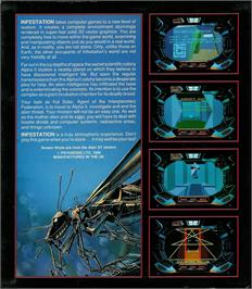 Box back cover for Infestation on the Atari ST.