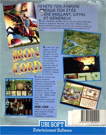 Box back cover for Iron Lord on the Atari ST.