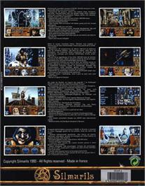 Box back cover for Ishar 2: Messengers of Doom on the Atari ST.