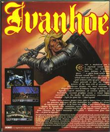 Box back cover for Ivanhoe on the Atari ST.
