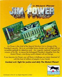 Box back cover for Jim Power in