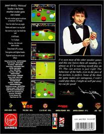 Box back cover for Jimmy White's Whirlwind Snooker on the Atari ST.
