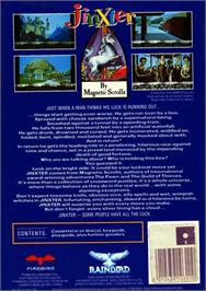 Box back cover for Jinxter on the Atari ST.