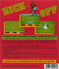 Box back cover for Kick Off: Extra Time on the Atari ST.