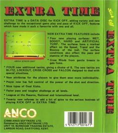 Box back cover for Kick Off 2: Winning Tactics on the Atari ST.