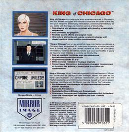 Box back cover for King of Chicago on the Atari ST.