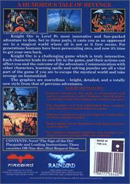 Box back cover for Knight Orc on the Atari ST.