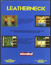 Box back cover for Leather Neck on the Atari ST.