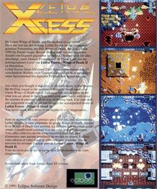 Box back cover for Lethal Xcess: Wings of Death 2 on the Atari ST.