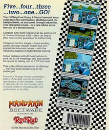 Box back cover for Lombard RAC Rally on the Atari ST.