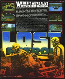 Box back cover for Lost Patrol on the Atari ST.