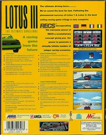 Box back cover for Lotus: The Ultimate Challenge on the Atari ST.