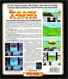 Box back cover for M1 Tank Platoon on the Atari ST.
