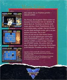 Box back cover for Magic Lines on the Atari ST.