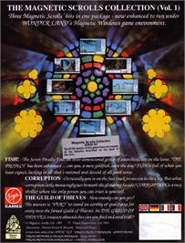 Box back cover for Magnetic Scrolls Collection on the Atari ST.