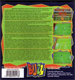 Box back cover for Manchester United Europe on the Atari ST.