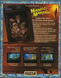 Box back cover for Maniac Mansion on the Atari ST.