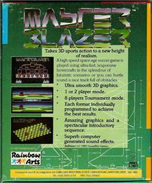 Box back cover for Master Blazer on the Atari ST.
