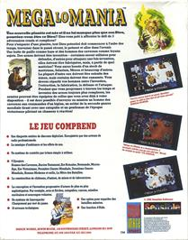 Box back cover for Mega Lo Mania & First Samurai on the Atari ST.