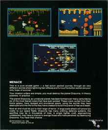 Box back cover for Menace on the Atari ST.