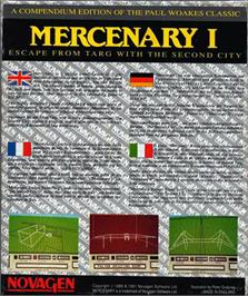 Box back cover for Mercenary: Escape From Targ with the Second City on the Atari ST.