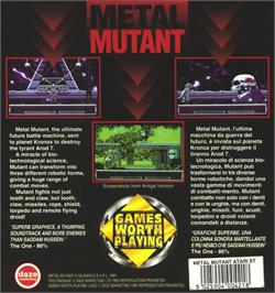 Box back cover for Metal Mutant on the Atari ST.