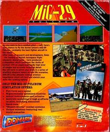 Box back cover for MiG-29 Fulcrum on the Atari ST.