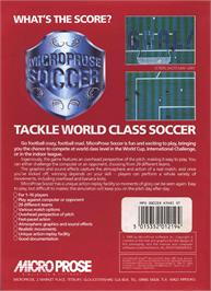 Box back cover for Microprose Pro Soccer on the Atari ST.
