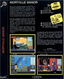 Box back cover for Mortville Manor on the Atari ST.