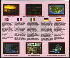 Box back cover for Narco Police on the Atari ST.