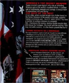 Box back cover for Navy Seals on the Atari ST.