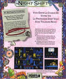 Box back cover for Night Shift on the Atari ST.