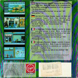 Box back cover for Ninja Warriors, The on the Atari ST.