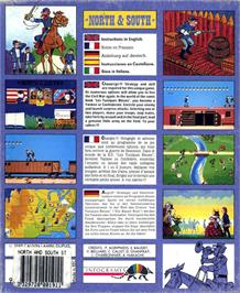Box back cover for North & South on the Atari ST.