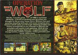 Box back cover for Operation Wolf on the Atari ST.