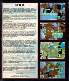 Box back cover for Ork on the Atari ST.