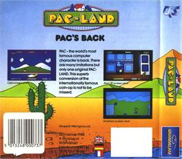 Box back cover for Pac-Land on the Atari ST.