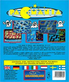 Box back cover for Pac-Mania on the Atari ST.
