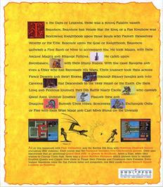 Box back cover for Paladin on the Atari ST.