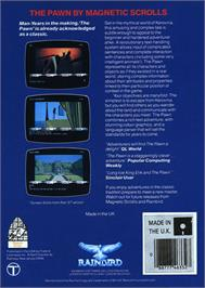 Box back cover for Pawn on the Atari ST.
