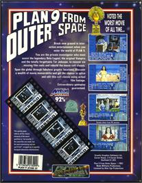Box back cover for Plan 9 From Outer Space on the Atari ST.