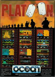 Box back cover for Platoon on the Atari ST.