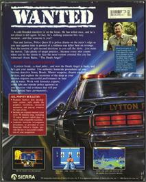 Box back cover for Police Quest 2: The Vengeance on the Atari ST.