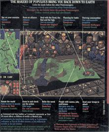 Box back cover for Powermonger on the Atari ST.