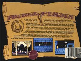 Box back cover for Prince of Persia on the Atari ST.
