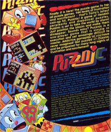 Box back cover for Puzznic on the Atari ST.