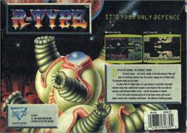 Box back cover for R-Type on the Atari ST.