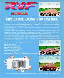 Box back cover for RVF Honda on the Atari ST.